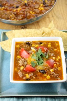 Easy and Delicious Taco Soup Recipe from Miss in the Kitchen