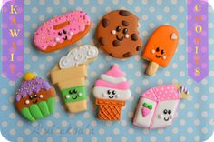 Dulcekoala Decorated Cookies ... and other sweets ...: SWEET Kawai DECORATED COOKIES