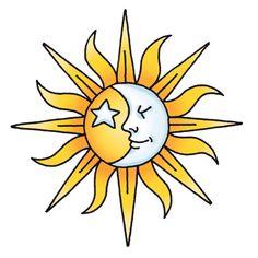 sun drawing - sun moon