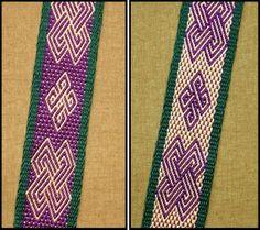 Celtic knot in Andean pebble weave | Flickr: Intercambio de fotos