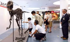 Prince Akishino family visited Fukui Prefectural Dinosaur museum on August 10, 2013.