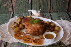 Báránycomb görögösen | Tétova ínyenc Chicken, Food, Eten, Meals, Cubs, Kai, Diet