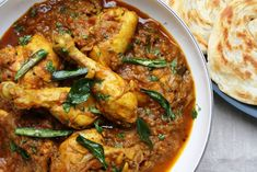 Spicy Keralan Chicken Curry Nadan Chicken Perelan cooked with curry leaves, chilli and fennel
