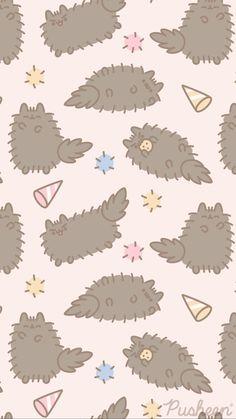 Vintage Flowers Wallpaper, Cute Pastel Wallpaper, Cat Wallpaper, Kawaii Wallpaper, Cute Wallpaper Backgrounds, Flower Wallpaper, Pattern Wallpaper, Iphone Wallpaper, Gato Pusheen