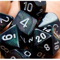 RPG Dice Set (Borealis Black) role playing game dice