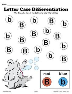 Letter B Do-A-Dot Printable Worksheet & Coloring Page
