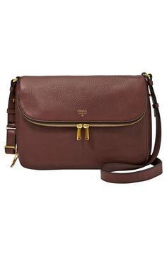 10e9669894 Fossil  Preston  Leather Shoulder Bag