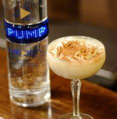 """Pumpkin Pie martini""  2oz Medea Vodka 1 oz goldschlager 1 oz baileys top w/ whipped cream and cinnamon"