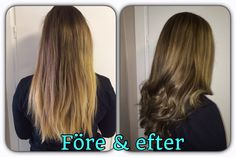 Before and after. From ombré to highligts and darker haircolor