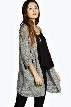 Carol Marl Loose Knit Batwing Cardigan alternative image