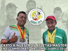 La COMUDE León y su Directora Lourdes Orozco Rangel desean éxito a los atletas Sergio Padilla y Juan Velázquez en el Campeonato Nacional Máster de Atletismo de Pista y Campo 2014 a celebrarse en Cd. Juárez.