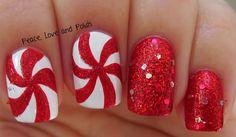Peace, Love and Polish christmas #nail #nails #nailart
