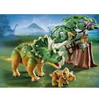 Playmobil Dinos Explorer and Triceratops with Baby Product Image - E