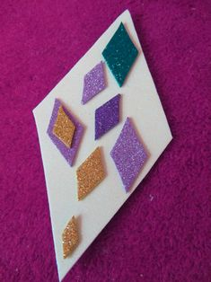 Diamond Glitter Collage Blog Art Activities Fun Crafts Project Ideas For Kids