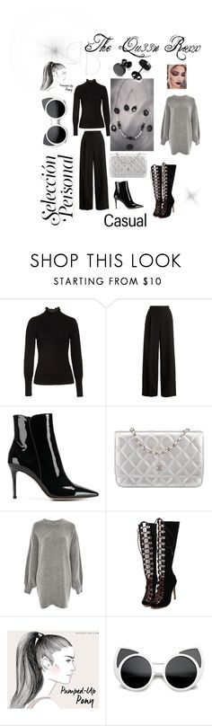 """""""October attire"""" by thequ33nroxx ❤ liked on Polyvore featuring Rebecca Taylor, RED Valentino, Gianvito Rossi, Chanel, Treasure & Bond and WithChic"""