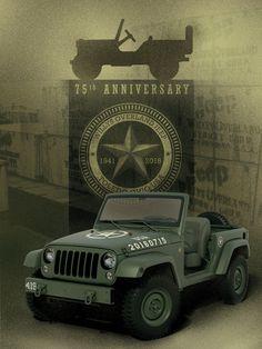 New Jeep Wrangler 75º Aniversary. Looks like 1941...