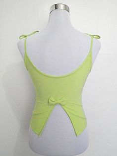 apple or avocado green backless sleeveless tank by VintageHomage, $10.00