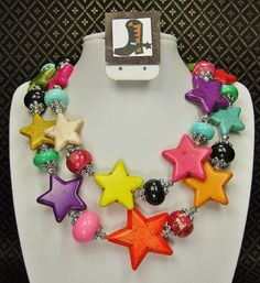 MULTICOLOR STAR Howlite Chunky Statement by CayaCowgirlCreations, $55.00