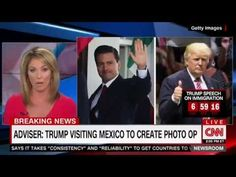 Trump Adviser Admits Mexico Trip Mostly For The Photo Op Brooke Baldwin, Human Skin Color, Trump Speech, Visit Mexico, Create Photo, Mexico Travel, Politics, America, Sayings