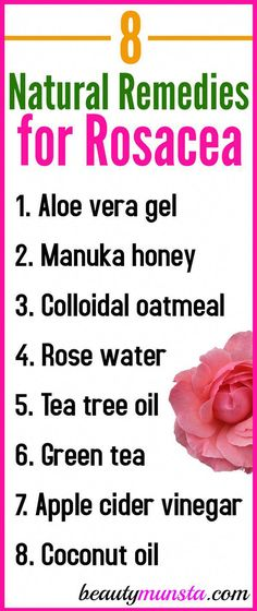 Find out 8 natural remedies for rosacea to calm your red irritated and burning skin at home! Rosacea is an inflammatory skin condition characterized by inflamed, red and burning skin on the face. It mostly appears due to menopause, consumption of too much Natural Remedies For Rosacea, Rosacea Remedies, Health Remedies, Bloating Remedies, Red Face Remedies, Home Remedies For Skin, Natural Antibiotics, Hair Remedies, Herbal Remedies
