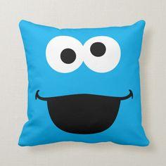 Shop Cookie Face Art Throw Pillow created by SesameStreet. Diy Pillows, Custom Pillows, Throw Pillows, Cushions, Monster Face, Cookie Monster, Sesame Street Birthday, Customized Gifts, Custom Gifts