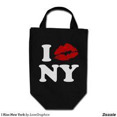 I Kiss New York Grocery Tote Bag