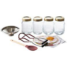 Kilner Preserving Starter Set Jam Making In Your Kitchen Equipment Garde Making Dill Pickles, How To Make Pickles, How To Make Jam, Kilner Jars, Mason Jars, Canning Supplies, Paper Pot, Starting Seeds Indoors, Starter Set