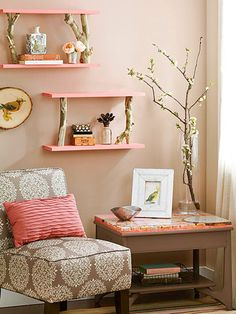I don't like the pink, but like the shelving idea