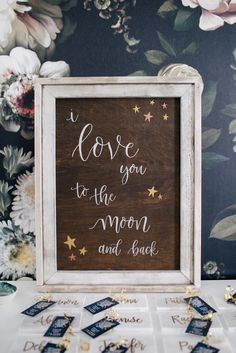 I love you to the moon and back nursery sign: Love You to the Moon and Back: A Galaxy Inspired Baby Shower