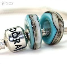 Rustic Turquoise Organic Duo Glass lampwork beads by radiantmind, $19.00