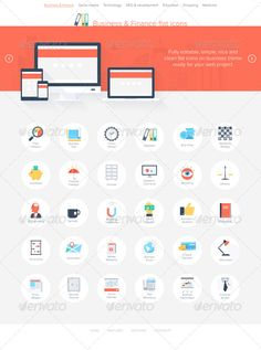 Business Icons — JPG Image #marketing #computer • Available here → https://graphicriver.net/item/business-icons/7042363?ref=pxcr