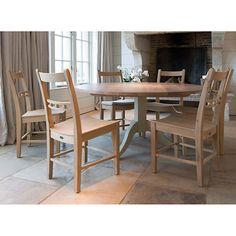 Buy Neptune Chichester 8-Seater Pedestal Oak Dining Table, Limestone Online at johnlewis.com