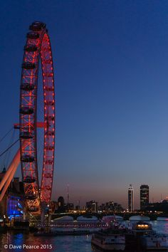 Red Eye - Blue Hour. The London Eye, London, England.