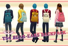 Bear-ears backpack at HANECO'S BOX • Sims 4 Updates