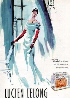 lucien lelong affiche vintage - Recherche Google