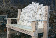 wedding bench for guest to sign - Google Search