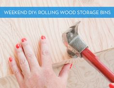 Weekend Project: How to Make Rolling Wood Storage Bins with Plywood