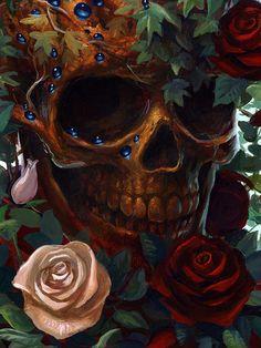 Skulls: and roses. Skull Tattoos, Body Art Tattoos, Tattoo Art, Badass Skulls, Totenkopf Tattoos, Skull Pictures, Skeleton Art, Skeleton Bones, Skull Artwork