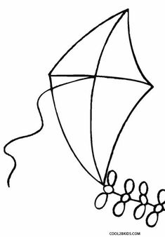 Printable Kite Coloring Pages For Kids | Cool2bKids