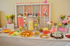 Pink, Gray, and White Chevron Baby Shower Decorations