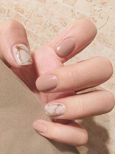 Marble Pattern Fake Nails With Tape Color: Nude Nails: False Nails Classy Nail Designs, Nail Polish Designs, Nail Art Designs, Nails Design, Gel Polish, French Nails, French Manicures, Nude Nails, My Nails