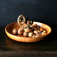 Wood Bowl Nut Cracker now featured on Fab.