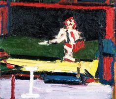 Frank Auerbach (German-British b. 1931) Figure on a Bed 1969. Saatchi Gallery.