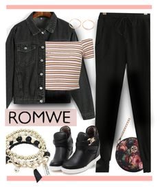 """Black Drawstring Pants Entry"" by fernshadowstudio-com ❤ liked on Polyvore featuring Miss Selfridge"