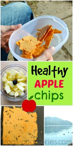 Healthy Apple Chips with Cinnamon - Frogs-and-Fairies.com  See which is the authentic dishes you must eat everyday : http://perfecthomebiz.online/category/healthy-food/