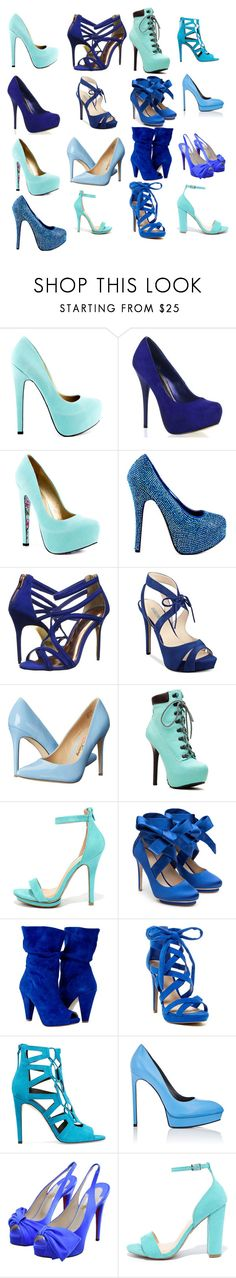 """""""Blue heels"""" by brain-cosand ❤ liked on Polyvore featuring TaylorSays, Viva Bordello, Ted Baker, GUESS, Penny Loves Kenny, Wild Diva, Liam Fahy, Rebecca Minkoff, Yves Saint Laurent and Christian Louboutin"""
