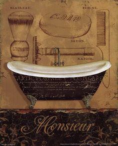 Álbum de imágenes para la inspiración | Aprender manualidades es facilisimo.com Bathroom Wall Decor, Small Bathroom, Bathroom Posters, Bathroom Prints, Clawfoot Bathtub, Bath Tub, Framed Prints, Art Prints, Biscuit