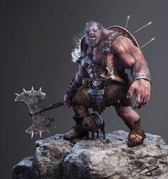 Barbarian Character, Ivo Diependaal on ArtStation at https://www.artstation.com/artwork/barbarian-character