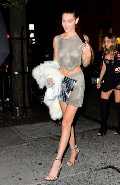 """Bella Hadid arriving at the Up&Down club in New York City for her 20th birthday party """