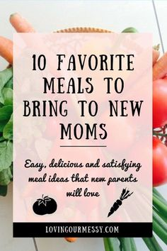 10 Favorite Meals to Bring to New Moms Want to bring a meal to a new mom but don't know what to make? Read to find 10 easy, delicious and satisfying meal ideas that new parents will love! Dinner Outfits, Mom Outfits, New Mom Haircuts, Mom Hairstyles, New Mom Meals, Family Meals, New Mom Survival Kit, Survival Kits, Survival Shelter